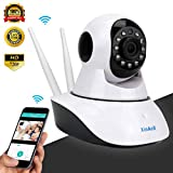 Cheap Home Security Camera System Wireless Pet Camera Dog Camera with Phone App Speaker, Pan Tilt Zoom WiFi Camera Indoor IP Surveillance Camera Dome, Motion Alarm for Baby Monitor/Elder/Office Nanny Cam