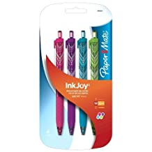 Paper Mate InkJoy 300 RT Retractable Medium Point Advanced Ink Pens, 4 Colored Ink Pens (1862402) by Sanford