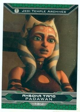 Ahsoka Tano trading card Star Wars Chrome Archives 2015 Topps #13J Jedi Padwan