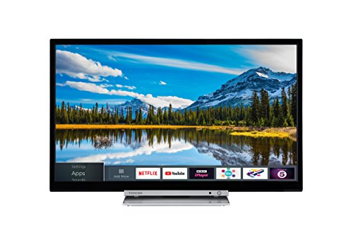 Toshiba 24D3863DB 24-Inch HD Ready Smart TV with Freeview Play and Built In DVD...
