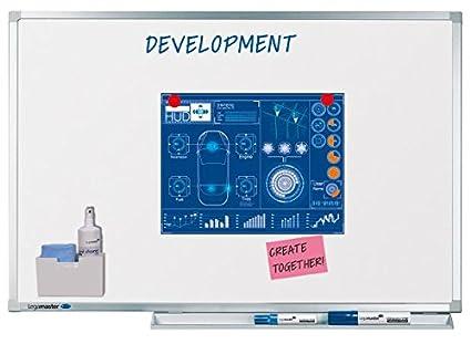 Legamaster 7-100043 Whiteboard Professional, e3-Emaille, geringes Gewicht, 90 x 60 cm 7-10043