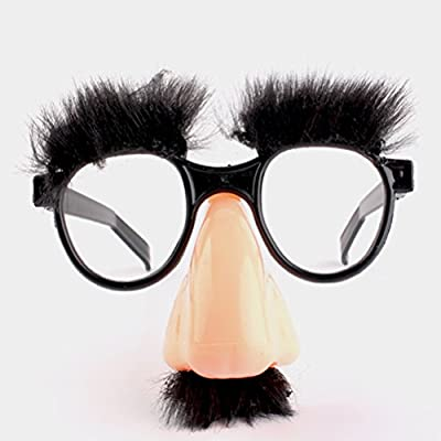 TOYANDONA 12pcs Disguise Glasses Funny Prop Novelty Party Favor Classic Prank Tool Prank Glasses with Fuzzy Nose: Toys & Games