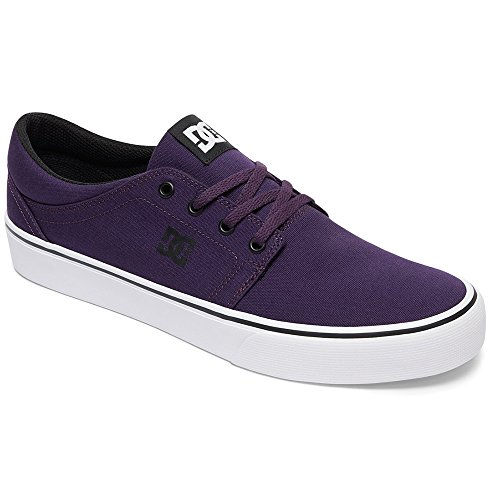 DC Women's Trase TX Skate Shoe, Purple Haze, 7 D (Purple Dc Shoes)