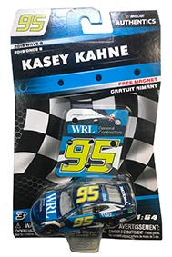 NASCAR Authentics Kasey Kahne #95 Diecast Car 1/64 Scale - 2018 Wave 8 - with Pit Sign Magnet - Collectible (Kasey Kahne Diecast 2018)