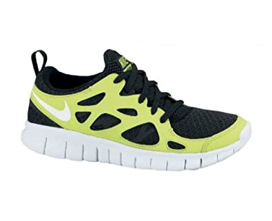 the latest c9f19 634f7 ... low cost nike free run 2.0 gs volt black white youth light running  shoes 443742 008