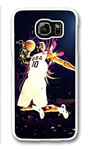 Galaxy S6 Case, S6 Cases, Custom Kobe Bryant Galaxy S6 Bumper Case [Scratch Resistant] [Shock-Absorbing] Hard Plastic White Protective Cover Cases for New Samsung Galaxy S6