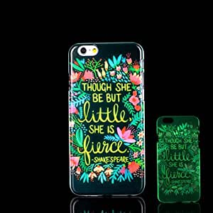 iPhone 6 Case, WBowen Flowers Pattern Glow in the Dark Case for iPhone 6 Cover