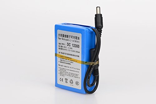Polymer Lithium Ion Battery (ABENIC Super Polymer Rechargeable 3000mAh Lithium-ion Battery DC 12V DC12300 Blue)