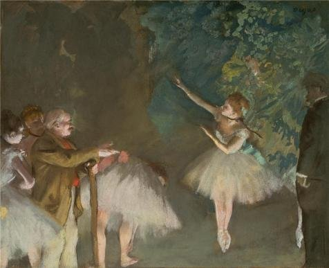 'Edgar Degas,Rehearsal Of The Ballet,about 1876' Oil Painting, 18x22 Inch / 46x56 Cm ,printed On Polyster Canvas ,this Amazing Art Decorative Prints On Canvas Is Perfectly Suitalbe For Home Office Gallery Art And Home Artwork And Gifts (Ballet Degas Bag)