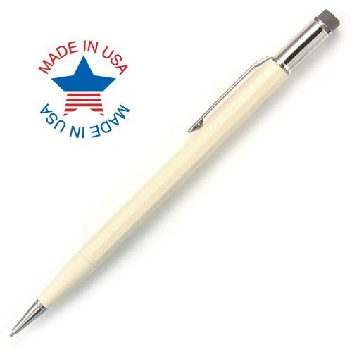 Autopoint® All-American® Pencil, 0.9mm tip, Paneled Barrel, Ivory, American Made (10010IV)