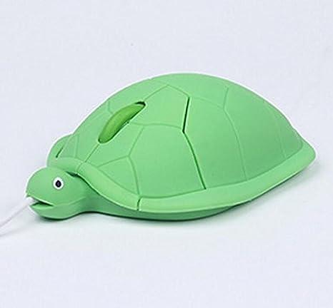 Shmgg Ratón óptico Usb Para Ordenador Portátil Diseño De Tortuga De