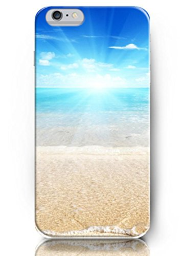 OUO New Unique Design Hard Cover for 5.5 Inch Iphone 6 Plus Case with Design of Beautiful Sunshine Beach