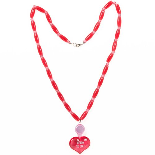 Bride to Be Bead Necklace with Light-Up Pendant - Light Up Dark Bride Child Costumes