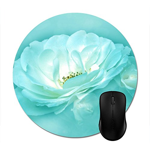 Beauty in The Mist,Jade Mousepad Non-Slip Natural Rubber Mouse Mat