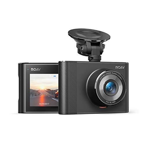 Roav DashCam A1, by Anker, Dash Cam, Dashboard Camera Recorder, 1080p FHD, Nighthawk Vision, Wide-Angle View, Wi-Fi, G-Sensor, WDR, Loop Recording, Night Mode, and Dedicated App