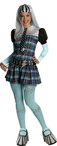 Rubies Womens Monster High Frankie Stein Halloween Themed Party Fancy Costume, L -