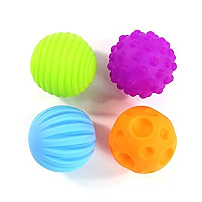ROHSCE Baby Textured Multi Ball Set, 6pcs Colorful Child Touch Hand Ball Toy Infant Sensory Balls Massage Soft Ball, Baby Learning Grasping Soft Ball Kids Gift: Toys & Games