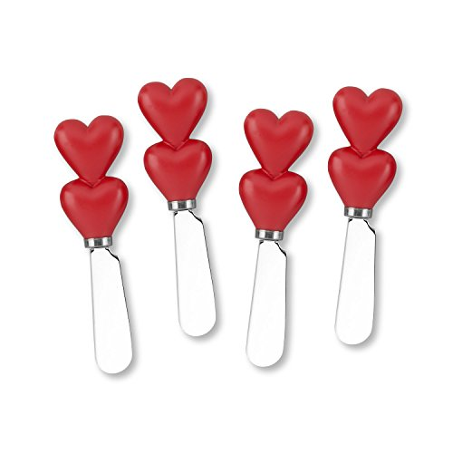 Mr. Spreader 4-Piece Heart Resin Cheese ()