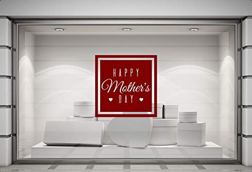 CELYCASY Happy Mother's Day Shop Sticker Mothers Day Window Decal Retail Store Display