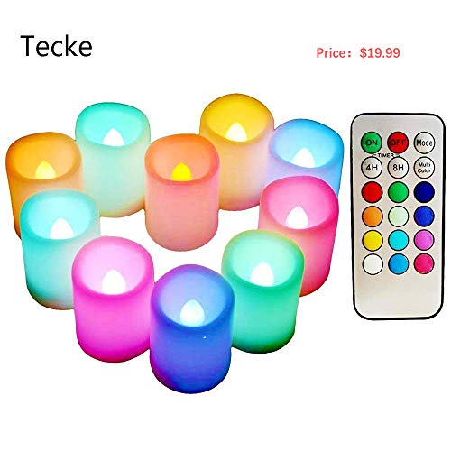 Led Light Votive Candles With Timer in US - 9
