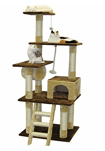 Purr Fect Cat Scratching Post - Go Pet Club Cat Tree Furniture Condo, 67-Inch