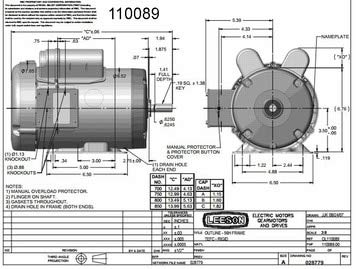 1.5 hp 1725 RPM 56 Frame TEFC (Farm Duty) 115/208-230 volts ... Farm Duty Capacitor Motor Wiring Diagram on