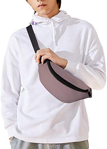 藤色の固体 ウエストバッグ ショルダーバッグチェストバッグ ヒップバッグ 多機能 防水 軽量 スポーツアウトドアクロスボディバッグユニセックスピクニック小旅行