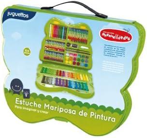 Manualidedos Estuche Mariposa de Pintura 106 piezas: Amazon.es: Juguetes y juegos