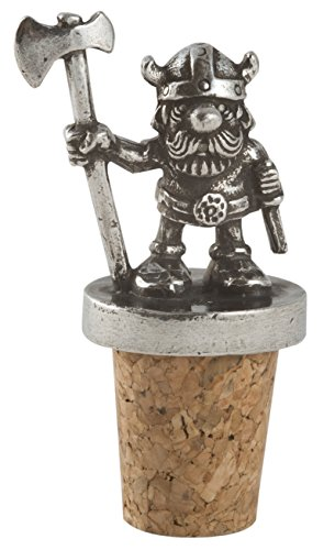 (Viking Warrior with Axe Pewter Wine Cork)