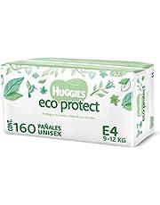 Huggies Eco Protect Pañal Desechable para bebé, Unisex, Etapa 4, Caja con 160 Pañales Desechables, Ideal para Bebés de 9 a 12 kilogramos