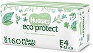 Huggies Eco Protect Pañal Desechable para bebé, Unisex, Etapa 4, Caja con 160 Pañales Desechables, Ideal para