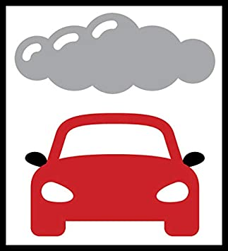 Co2 vehicle Sticker sign 100mm transportation