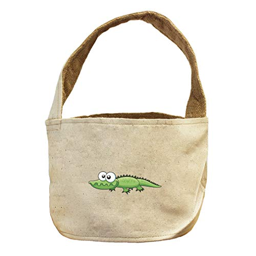 Crocodile Funny Animals Style 2 Canvas and Burlap Storage Basket by Style in Print