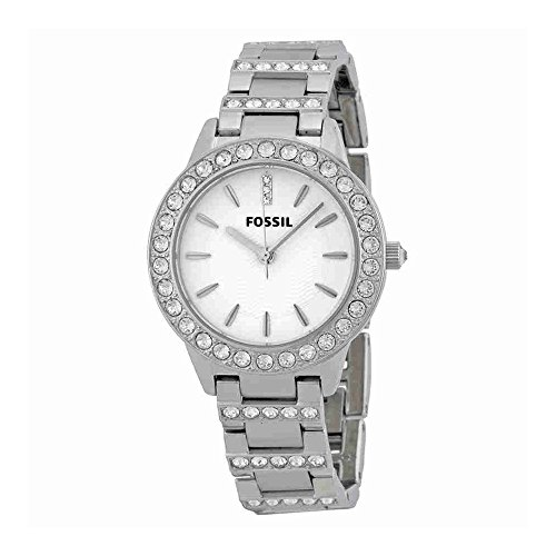 Fossil Women's ES2362 Stainless Steel Bracelet Silver Glitz Analog Dial (Fossil Womens Crystal Watch)