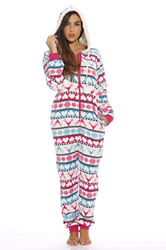 6415-L #FollowMe Adult Onesie / Onesies / Pajamas, Luv Buck Fairisle, Large