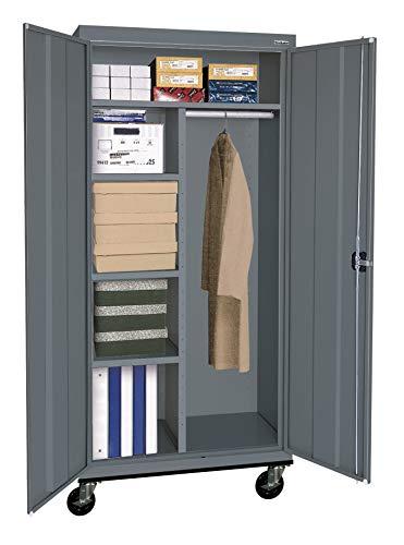 (Sandusky Lee TACR362472-02 Transport Series Mobile Combination Storage Cabinet, Charcoal)