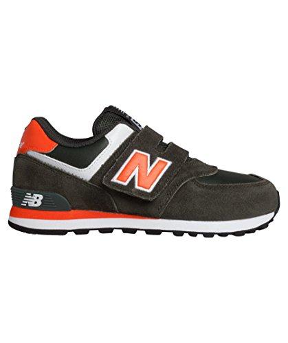 Ragazzo New Balance kg574aoy orange verde arancio sneaker velcro