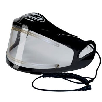 Snowmobile Shield (HJC Electric Shield Symax Snow Racing Snowmobile Helmet Accessories - Color: Clear)