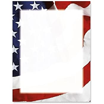 amazon com grand ol flag patriotic letter papers set of 25