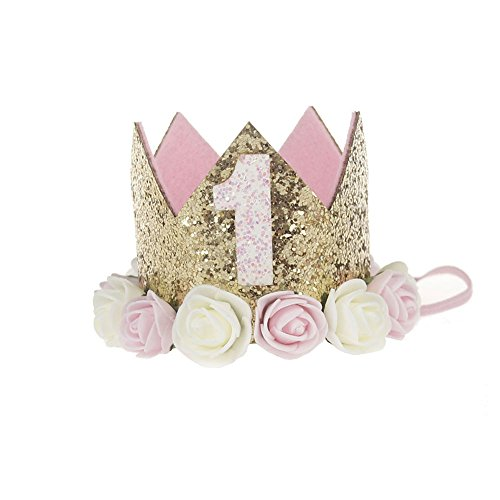 - MinXiao Rose Edge Hair Band Crown Baby Clasp Lovely Party Photo Performance Headwear