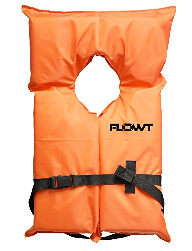 Flowt 40000-UNV AK-1 Type II Life Jacket, Orange, Adult Universal