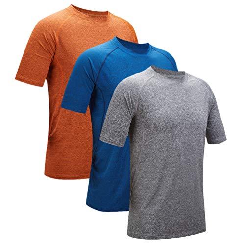 - ZITY T Shirt Short SleeveTravel Clothing/Running T Shirt Athletic Workout Shirt Dark Grey Medium