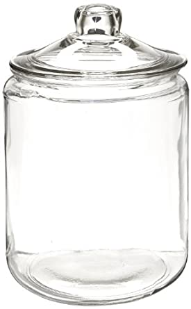 """Anchor Hocking 69349T 7-3/8"""" Diameter x 10"""" Height, 1 gallon Storage Jar with Cover"""