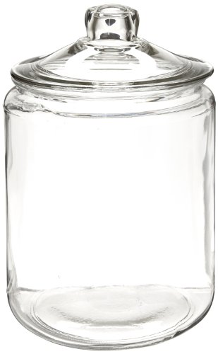 "Anchor Hocking 69349T 7-3/8"" Diameter x 10"" Height, 1 gallon Storage Jar with Cover"