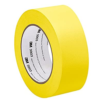 3M 3903 Vinyl Duct Tape - 2 in. x 150 ft. Yellow Rubber Adhesive Tape Roll with Abrasion, Chemical Resistance. Sealing Tapes by 3M