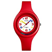 Boys Analog Watches for Kids Girls,50M Waterproof Child's Easy Read Time Teacher,Children Gifts