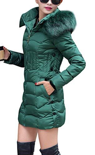 Femme Hiver Parka avec Capuchon Fourrure Longues Grande Taille Chaud Doudoune Manteau Elgante Outdoor Fashion Loisir Manches Longues Transition breal Slim Fit Doudoune Chemine Stepp Grn