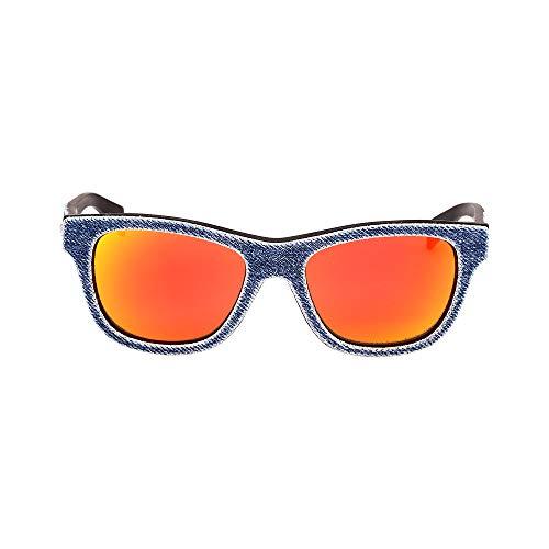 Diesel Sunglasses DL0111 90U Demin Fabric / Red Mirror Lenses Size - Sunglasses Diesel Red