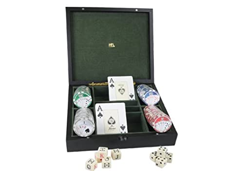 Mr - Estuche cartas (four)+100 fichas poker 22x20.5x5cm ...