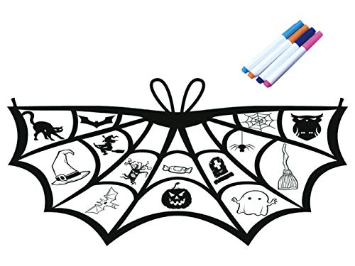Bat Wings Coloring Crafts for Kids Fun Halloween Prints Poncho Costumes Dancing Festival Accessories -